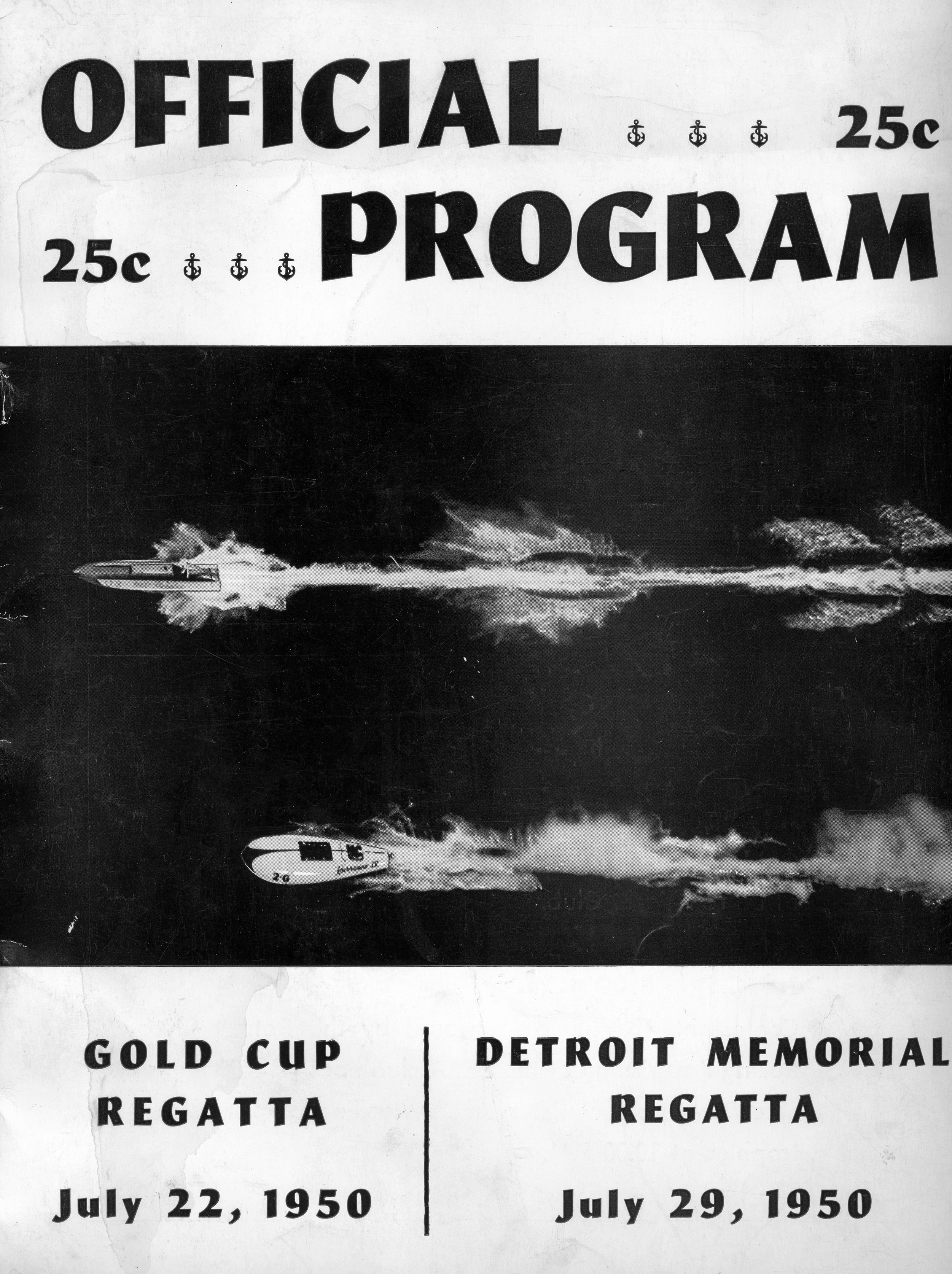 1950 Detroit Gold Cup Programme Cover